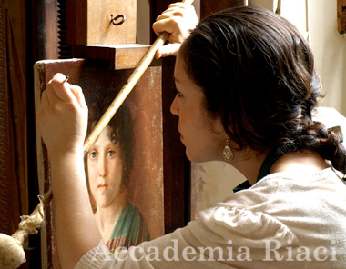 Learn restoration of paintings in Florence, Italy