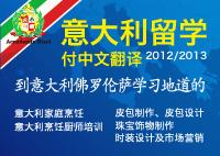 意大利留学 付中文翻译 2012/2013