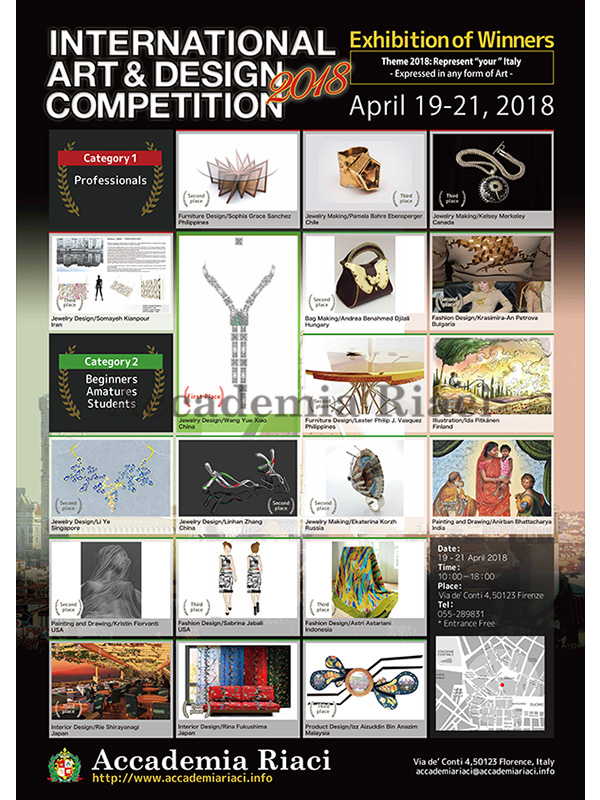 competition 2018 winners' works